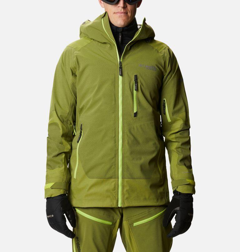 Powder Chute™ Shell | 386 | L Men's Powder Chute Ski Shell Jacket, Bright Chartreuse, front