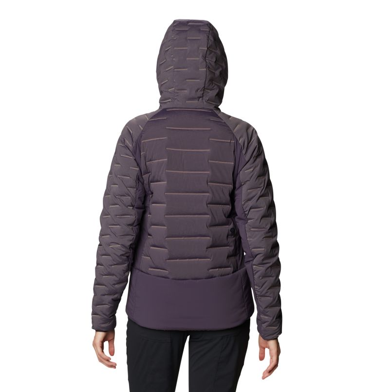 Stretchdown™ Hybrid Hoody | 599 | S Women's Stretchdown™ Hybrid Hoody, Blurple, back