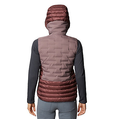 Women's Super/DS™ Stretchdown Hybrid Vest Super/DS™ Hybrid Vest   324   L, Warm Ash, back