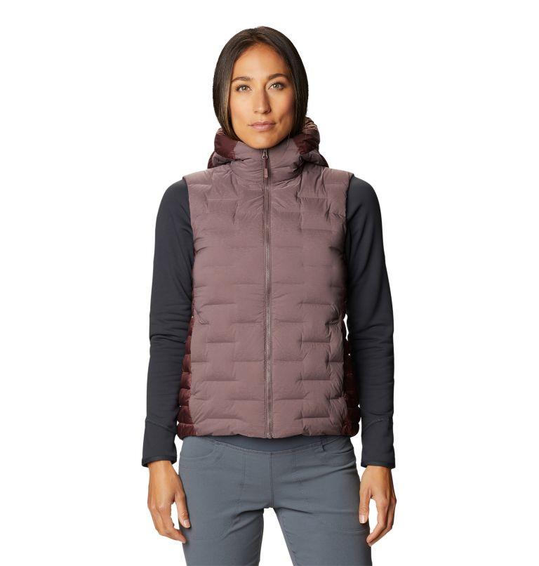 Super/DS™ Hybrid Vest   249   XS Women's Super/DS™ Stretchdown Hybrid Vest, Warm Ash, front