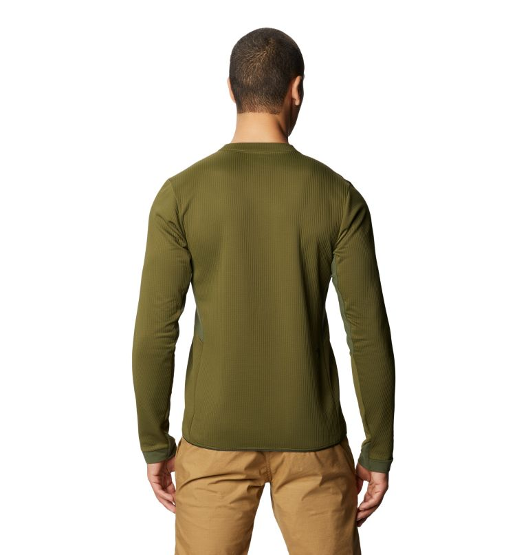Cruxland™ Long Sleeve Shirt | 304 | L Men's Cruxland™ Long Sleeve Shirt, Dark Army, back