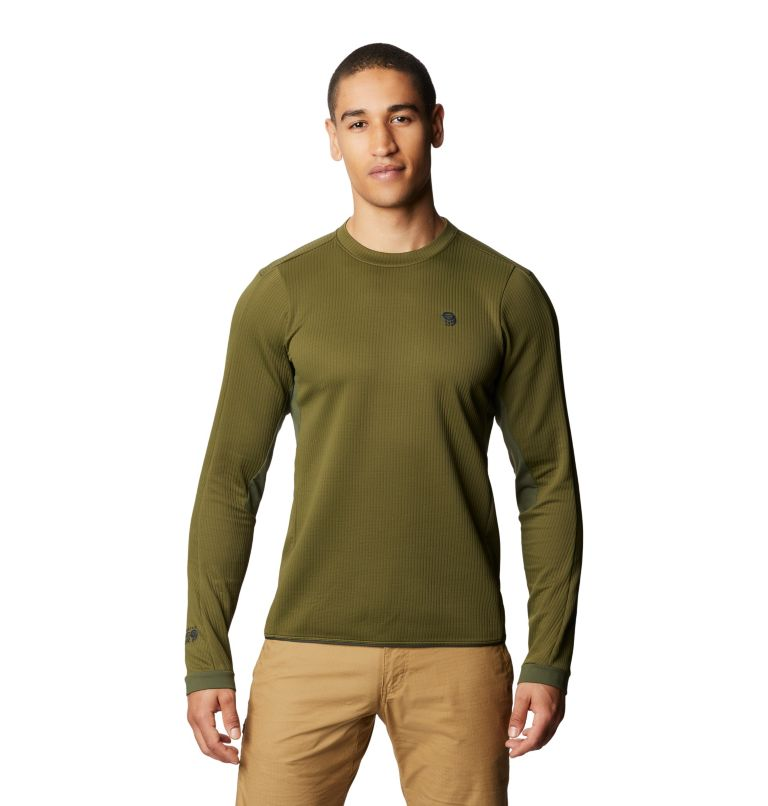 Cruxland™ Long Sleeve Shirt | 304 | L Men's Cruxland™ Long Sleeve Shirt, Dark Army, front
