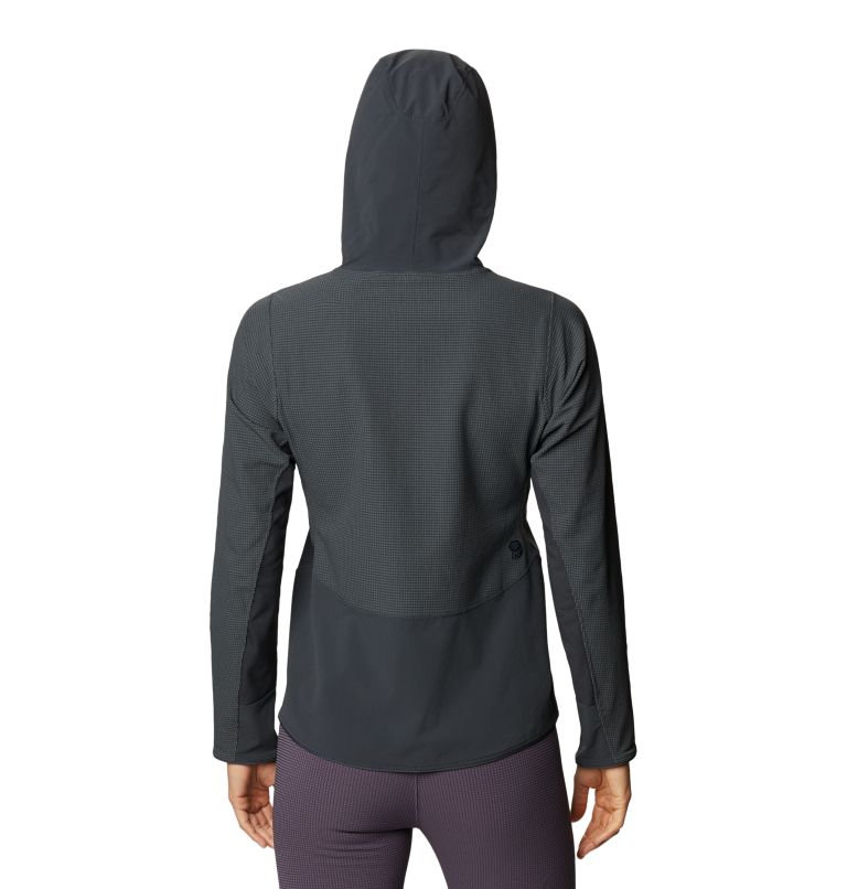 Rock Intelligence™ Hybrid Hoody | 004 | M Women's Rock Intelligence™ Hybrid Hoody, Dark Storm, back