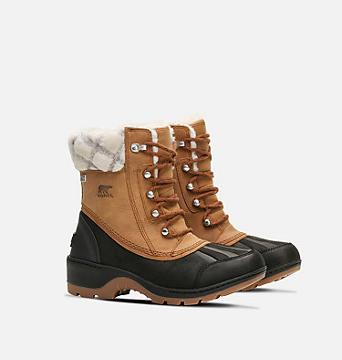 Women's Whistler™ Mid Boot WHISTLER™ MID | 224 | 6, Camel Brown, Black, 3/4 front