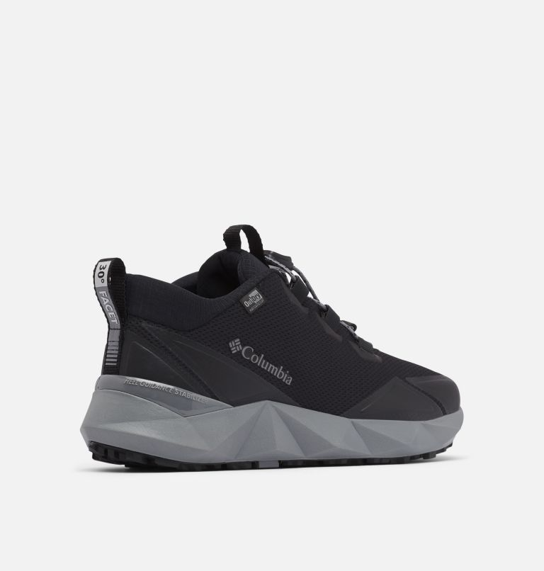 FACET™ 30 OUTDRY™ | 010 | 7 Men's Facet 30 OutDry Shoe, Black, Ti Grey Steel, 3/4 back