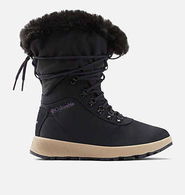 Women's Slopeside Village™ Omni-Heat™ High Boot SLOPESIDE VILLAGE™ OMNI-HEAT™ HI | 444 | 10, Extreme Midnight, Cyber Purple, front