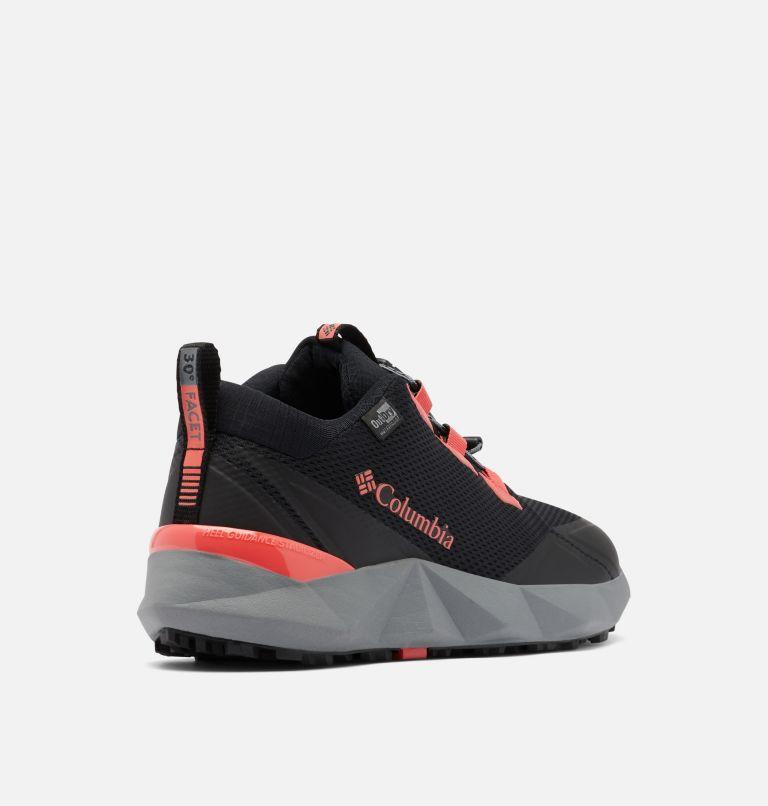 FACET™ 30 OUTDRY™   012   5 Women's Facet™ 30 OutDry™ Shoe, Black, Red Coral, 3/4 back