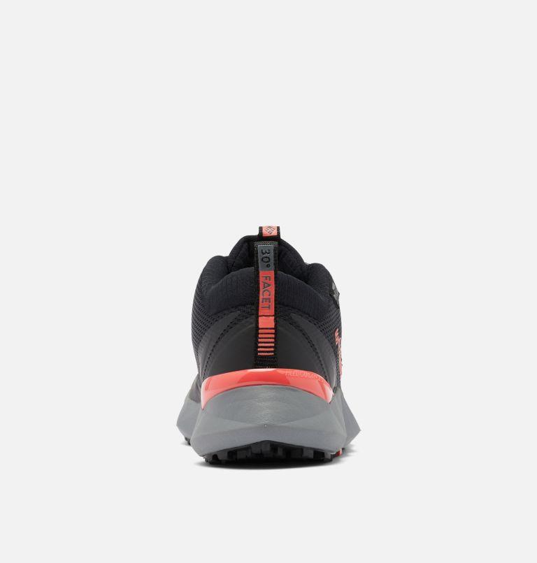 FACET™ 30 OUTDRY™   012   5 Women's Facet™ 30 OutDry™ Shoe, Black, Red Coral, back