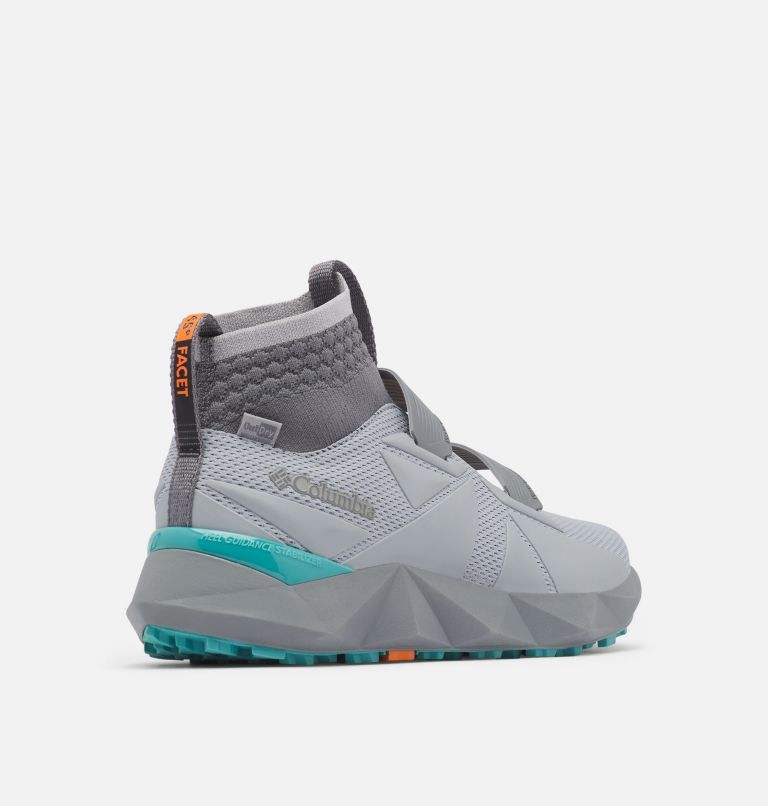 FACET™ 45 OUTDRY™ | 088 | 5.5 Chaussure Facet 45 OutDry femme, Steam, Teal, 3/4 back