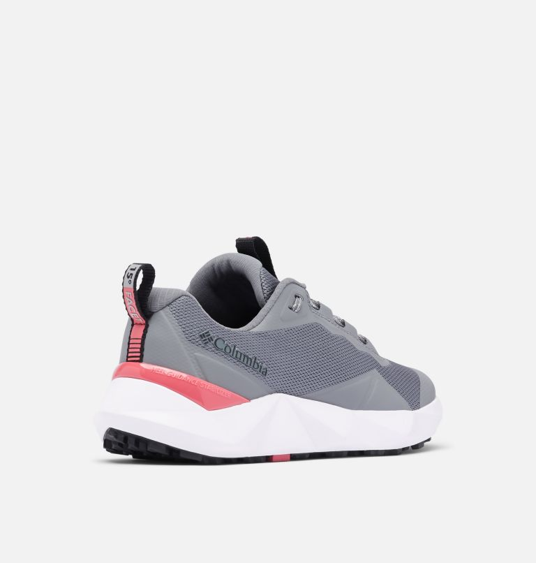 FACET™ 15 | 033 | 9.5 Women's Facet™ 15 Shoe, Ti Grey Steel, Rouge Pink, 3/4 back