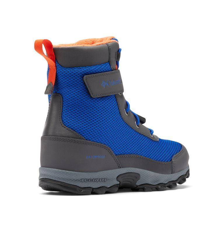 YOUTH HYPER-BOREAL™ OMNI-HEAT™ WP | 408 | 5 Big Kids' Hyper-Boreal™ Omni-Heat™ Waterproof Boot, Cobalt Blue, Tangy Orange, 3/4 back