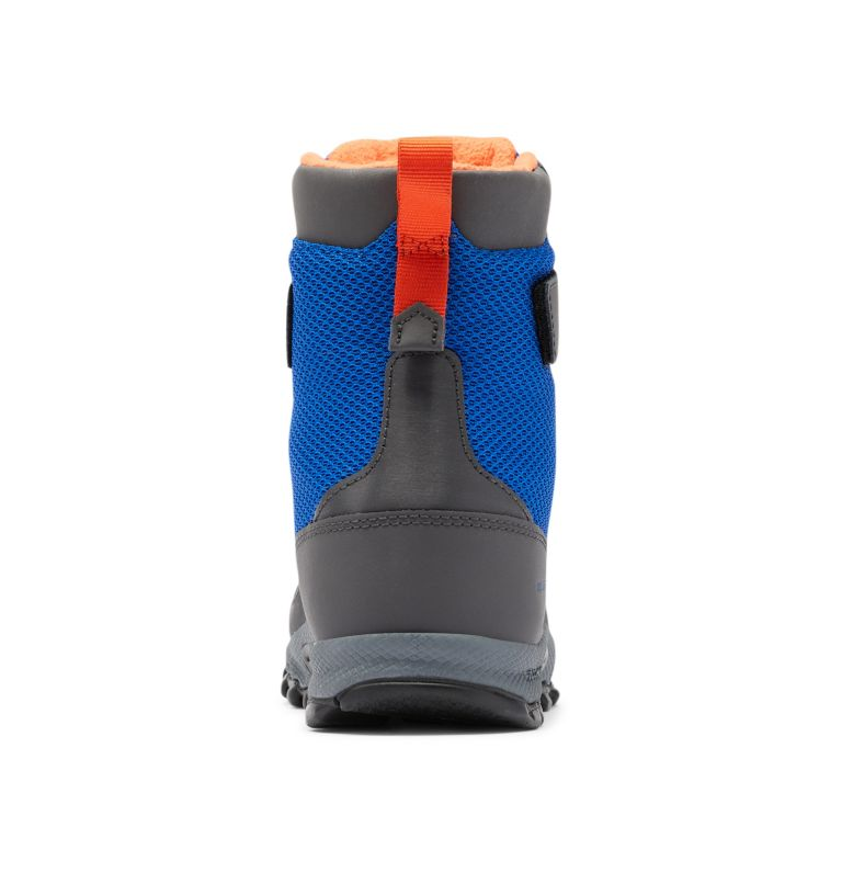 YOUTH HYPER-BOREAL™ OMNI-HEAT™ WP | 408 | 7 Big Kids' Hyper-Boreal™ Omni-Heat™ Waterproof Boot, Cobalt Blue, Tangy Orange, back