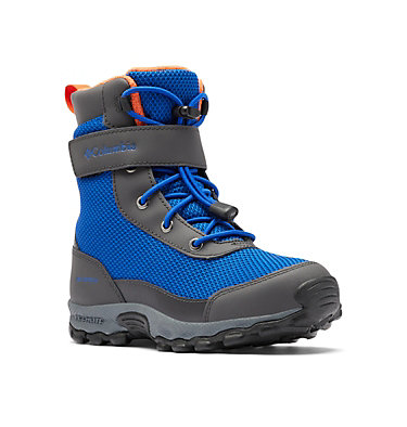 Big Kids' Hyper-Boreal™ Omni-Heat™ Waterproof Boot YOUTH HYPER-BOREAL™ OMNI-HEAT™ WP | 010 | 1, Cobalt Blue, Tangy Orange, 3/4 front