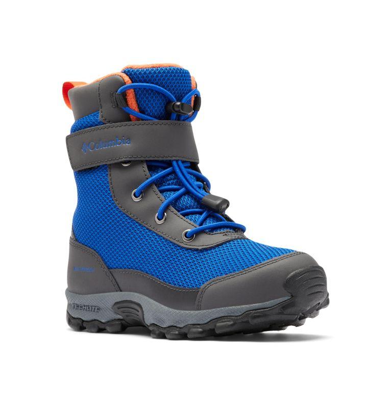 YOUTH HYPER-BOREAL™ OMNI-HEAT™ WP | 408 | 5 Big Kids' Hyper-Boreal™ Omni-Heat™ Waterproof Boot, Cobalt Blue, Tangy Orange, 3/4 front