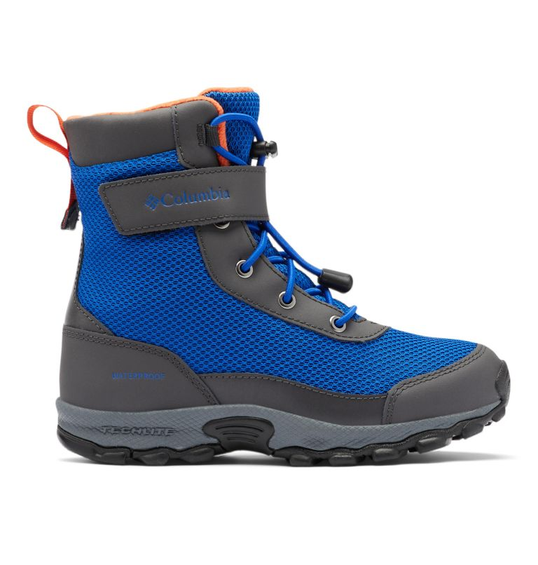YOUTH HYPER-BOREAL™ OMNI-HEAT™ WP | 408 | 4 Big Kids' Hyper-Boreal™ Omni-Heat™ Waterproof Boot, Cobalt Blue, Tangy Orange, front