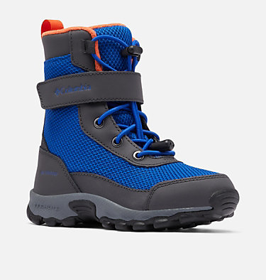 Little Kids' Hyper-Boreal™ Omni-Heat™ Waterproof Boot CHILDRENS HYPER-BOREAL™ OMNI-HEAT™ WP | 408 | 10, Cobalt Blue, Tangy Orange, 3/4 front