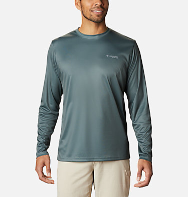 Men's PFG Terminal Tackle™ Vintage Fish Long Sleeve Shirt Terminal Tackle™ PFG Vintage Fish LS | 469 | XXL, Pond, Trout, back