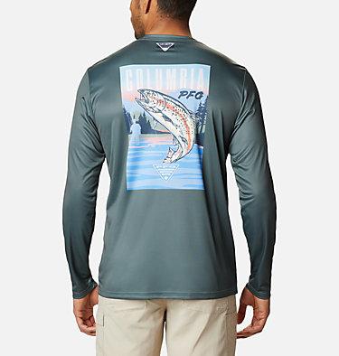 Men's PFG Terminal Tackle™ Vintage Fish Long Sleeve Shirt Terminal Tackle™ PFG Vintage Fish LS | 469 | XXL, Pond, Trout, front