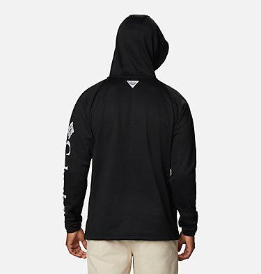 Men's PFG Terminal Tackle™ Fleece Hoodie Terminal Tackle™ Fleece Hoodie | 487 | XS, Black, Cool Grey Logo, back