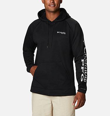 Men's PFG Terminal Tackle™ Fleece Hoodie Terminal Tackle™ Fleece Hoodie | 487 | XS, Black, Cool Grey Logo, front