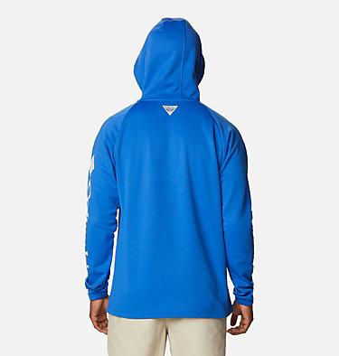 Men's PFG Terminal Tackle™ Fleece Hoodie Terminal Tackle™ Fleece Hoodie | 487 | XS, Vivid Blue, White Logo, back