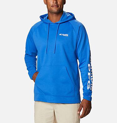 Men's PFG Terminal Tackle™ Fleece Hoodie Terminal Tackle™ Fleece Hoodie | 487 | XS, Vivid Blue, White Logo, front