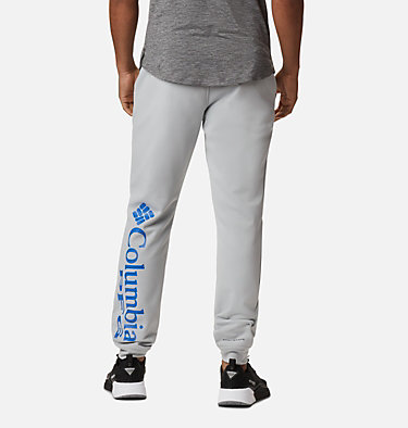 Men's PFG Terminal Tackle™ Fleece Joggers Terminal Tackle™ Fleece Jogger | 010 | L, Cool Grey, Vivid Blue Logo, back