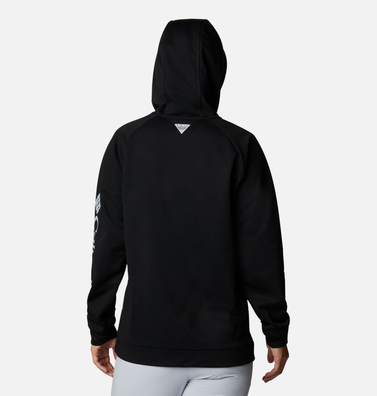 Tidal™ Fleece Hoodie | 010 | M Women's PFG Tidal™ Fleece Hoodie, Black, Cirrus Grey Logo, back