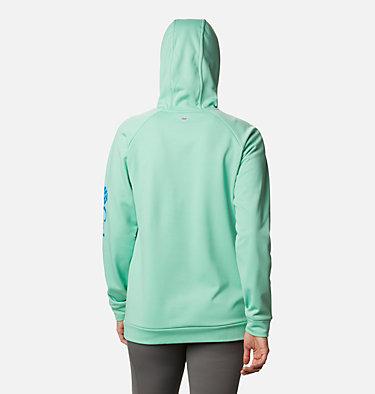 Women's PFG Tidal™ Fleece Hoodie Tidal™ Fleece Hoodie   010   S, Kelp, Stormy Blue Logo, back