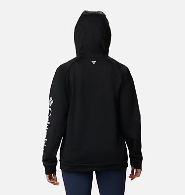Women's PFG Tidal™ Full Zip Fleece Hoodie Tidal™ Fleece FZ Hoodie   337   XL, Black, Cirrus Grey Logo, back