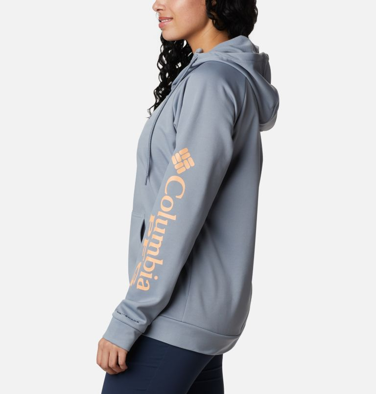 Tidal™ Fleece FZ Hoodie | 032 | S Women's PFG Tidal™ Full Zip Fleece Hoodie, Tradewinds Grey, Light Juice Logo, a1