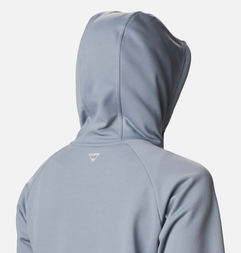 Tidal™ Fleece FZ Hoodie | 032 | S Women's PFG Tidal™ Full Zip Fleece Hoodie, Tradewinds Grey, Light Juice Logo, a4