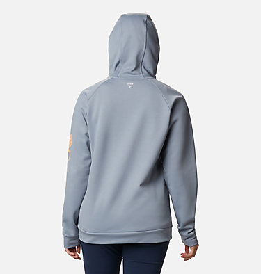 Women's PFG Tidal™ Full Zip Fleece Hoodie Tidal™ Fleece FZ Hoodie | 337 | XL, Tradewinds Grey, Light Juice Logo, back