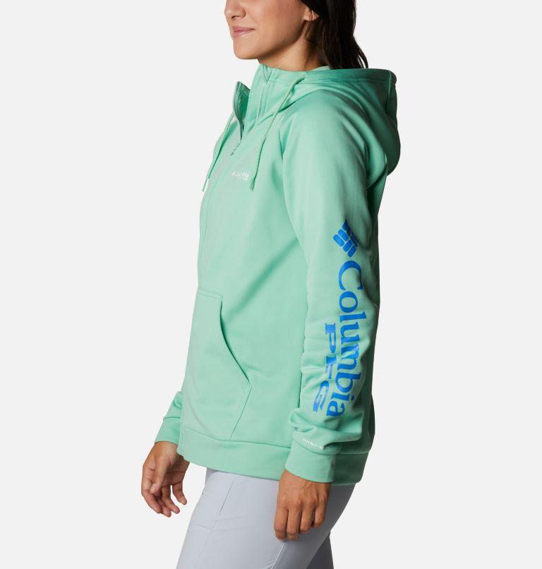 Tidal™ Fleece FZ Hoodie | 337 | XL Women's PFG Tidal™ Full Zip Fleece Hoodie, Kelp, Stormy Blue Logo, a1