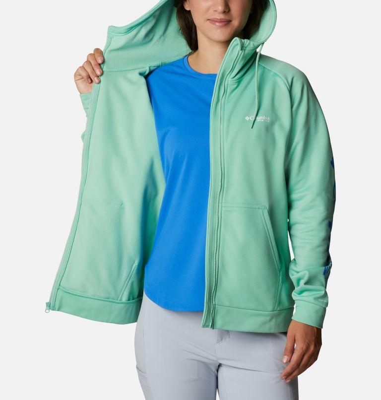 Tidal™ Fleece FZ Hoodie | 337 | XL Women's PFG Tidal™ Full Zip Fleece Hoodie, Kelp, Stormy Blue Logo, a3