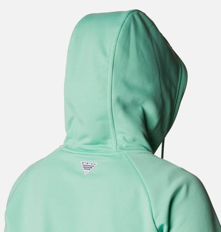 Tidal™ Fleece FZ Hoodie | 337 | XL Women's PFG Tidal™ Full Zip Fleece Hoodie, Kelp, Stormy Blue Logo, a4