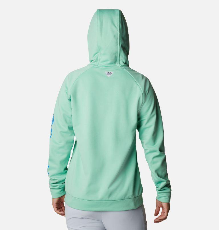 Tidal™ Fleece FZ Hoodie | 337 | XXL Women's PFG Tidal™ Full Zip Fleece Hoodie, Kelp, Stormy Blue Logo, back