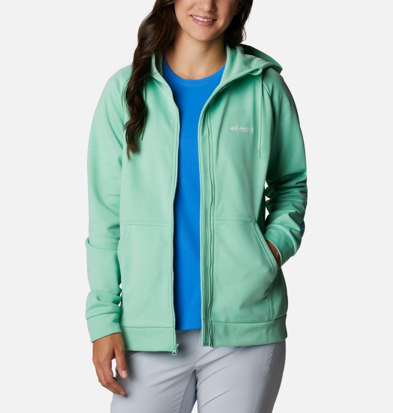 Tidal™ Fleece FZ Hoodie | 337 | XXL Women's PFG Tidal™ Full Zip Fleece Hoodie, Kelp, Stormy Blue Logo, front