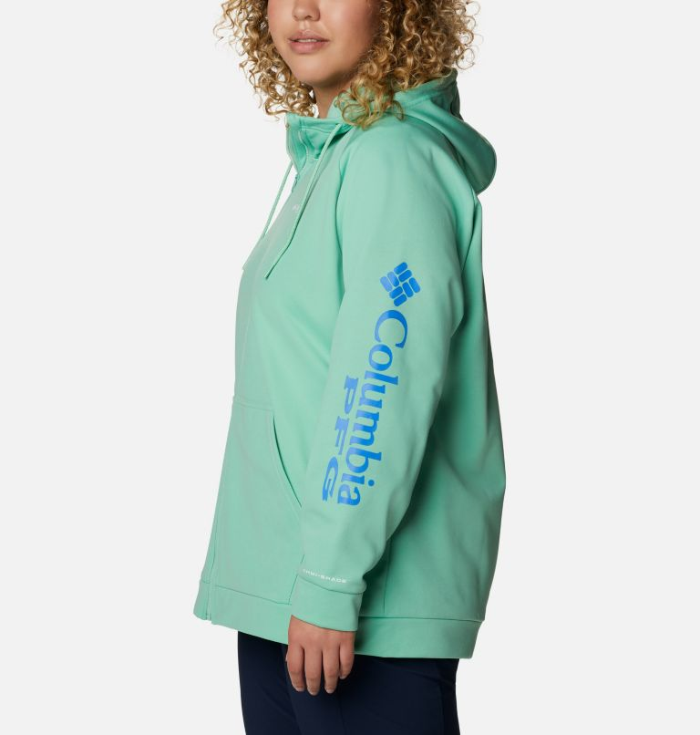 Women's PFG Tidal™ Fleece Full Zip Hoodie - Plus Size Women's PFG Tidal™ Fleece Full Zip Hoodie - Plus Size, a1