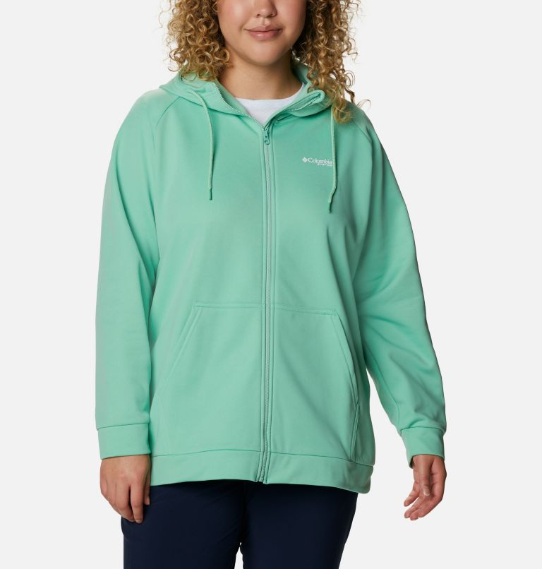 Women's PFG Tidal™ Fleece Full Zip Hoodie - Plus Size Women's PFG Tidal™ Fleece Full Zip Hoodie - Plus Size, front