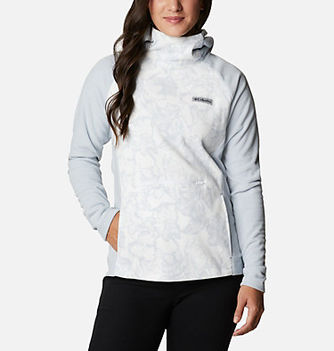 Women's Ali Peak™ Hooded Fleece Ali Peak™ Hooded Fleece | 031 | L, Cirrus Grey, Brush Floral Print, front