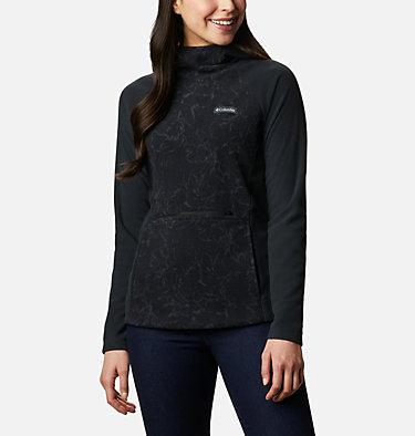 Women's Ali Peak Hooded Fleece Ali Peak™ Hooded Fleece | 010 | L, Black, Brushstroke Floral Print, front
