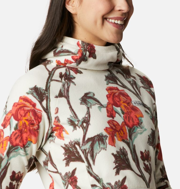 Ali Peak™ Hooded Fleece | 191 | M Women's Ali Peak Hooded Fleece, Chalk Botanica Print, a3