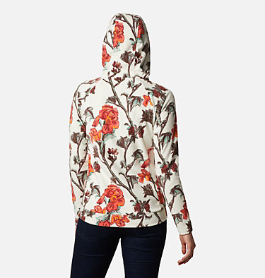 Pile con cappuccio Ali Peak da donna Ali Peak™ Hooded Fleece | 010 | L, Chalk Botanica Print, back