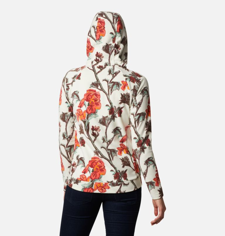 Ali Peak™ Hooded Fleece | 191 | M Women's Ali Peak Hooded Fleece, Chalk Botanica Print, back