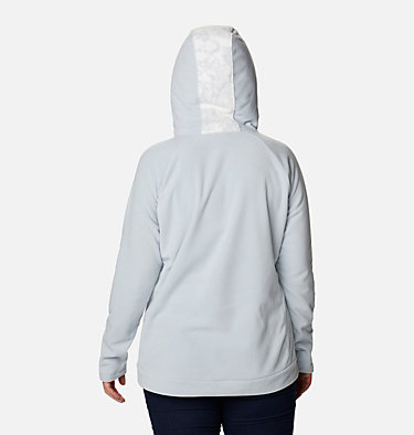 Women's Ali Peak™ Hooded Fleece - Plus Size Ali Peak™ Hooded Fleece | 031 | 1X, Cirrus Grey, Brush Floral Print, back