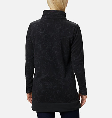 Women's Ali Peak™ Fleece Tunic Ali Peak™ Fleece Tunic | 472 | L, Black, Brush Floral Print, back