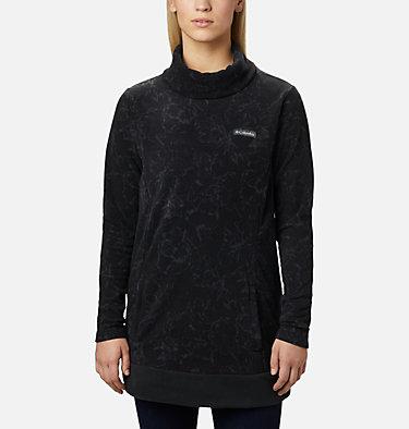 Women's Ali Peak™ Fleece Tunic Ali Peak™ Fleece Tunic   472   L, Black, Brush Floral Print, front