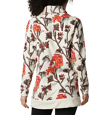 Women's Ali Peak™ Fleece Tunic Ali Peak™ Fleece Tunic | 191 | L, Chalk Botanica Print, back