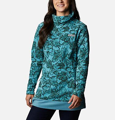 Women's Ali Peak™ Fleece Tunic Ali Peak™ Fleece Tunic | 191 | L, Canyon Blue, Brush Floral Print, front